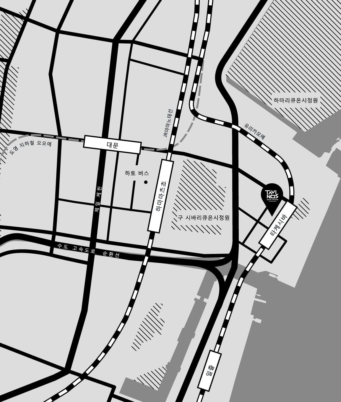 浜松町ホテル地図ロング